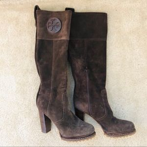 Tory Burch Brown Suede Boots, Size 7.5